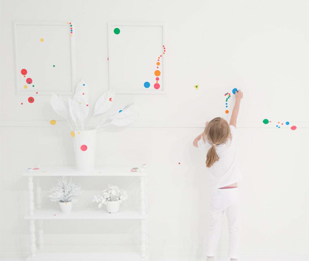 Kids Covered Room with Stickers