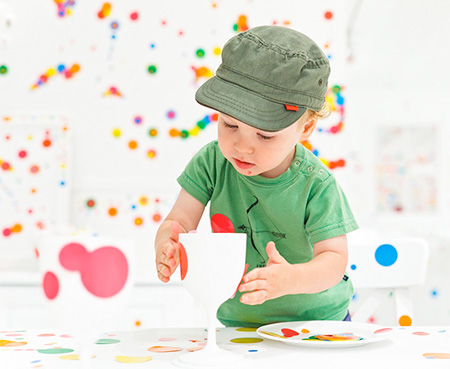 Children Decorated Room with Stickers