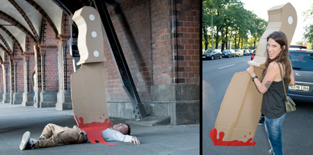 Giant Knife Street Art