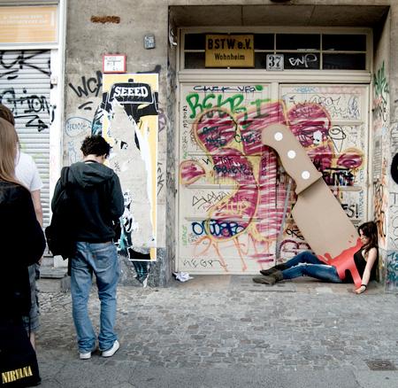 Knife Street Art