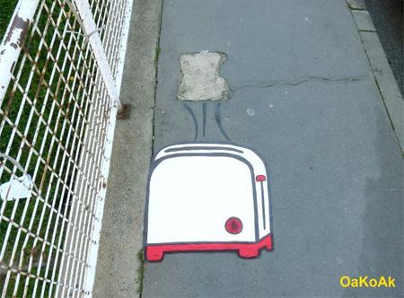 Toaster Street Art