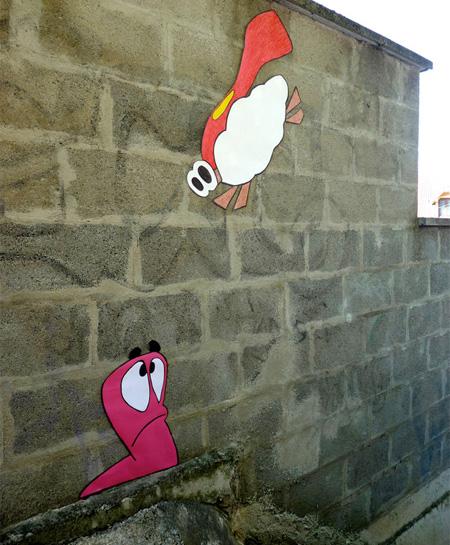 Worms Street Art
