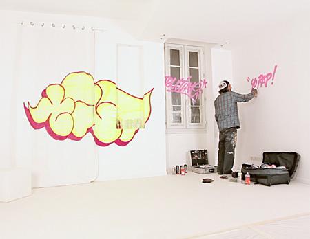 Graffiti in Hotel Room