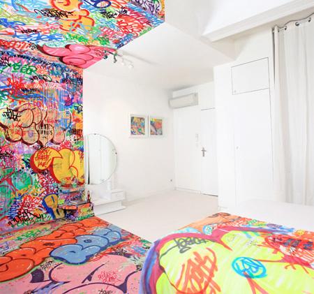 Half Graffiti Room