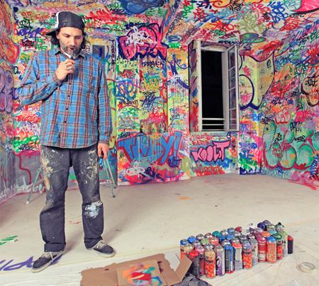 Graffiti Hotel Room by Tilt