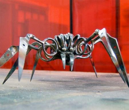 Spiders Made of Scissors