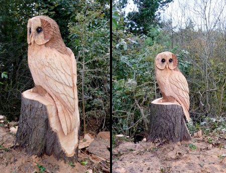 Owl Tree Sculpture