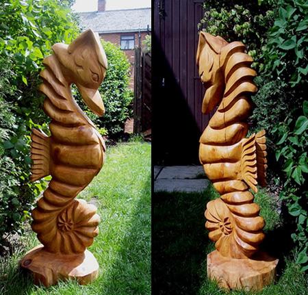 Seahorse Tree Sculpture