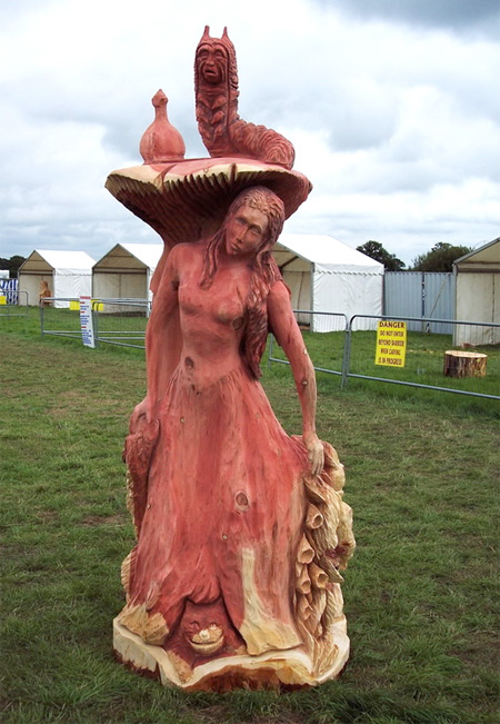 Alice in Wonderland Tree Sculpture