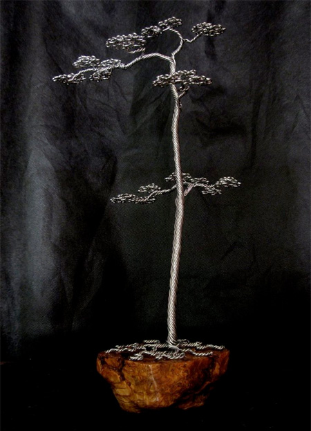 Metal Bonsai Tree