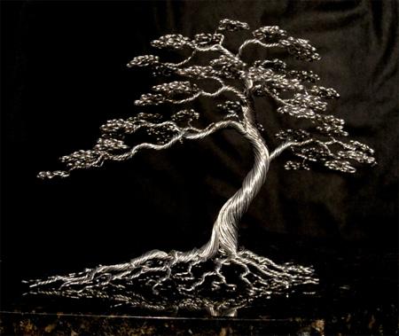 Aluminum Bonsai Tree