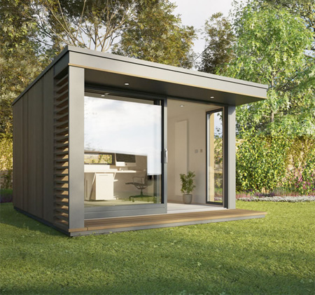 Backyard offices for Prefabricated garden rooms
