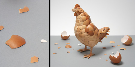Chicken Made of Eggshells