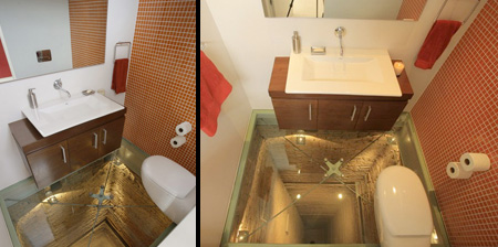 Glass Floor Bathroom
