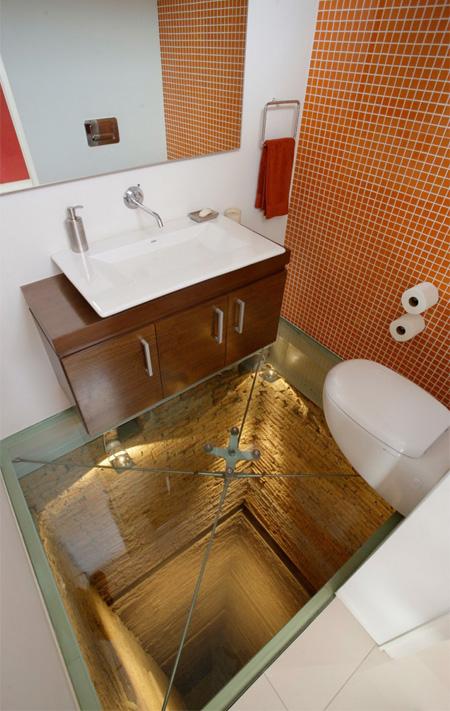 Bottomless Elevator Bathroom