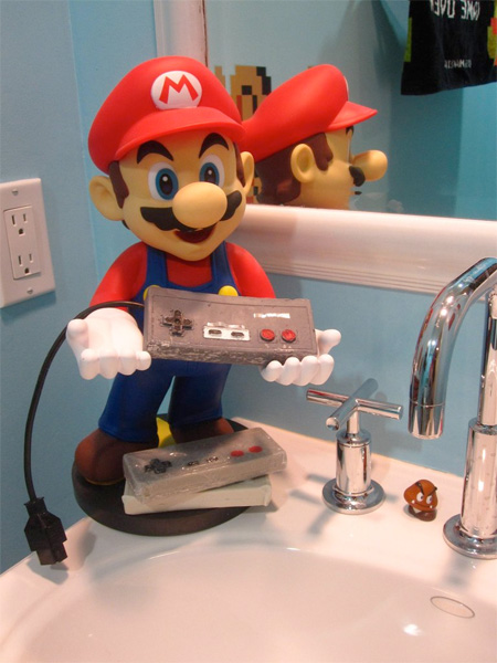 Super Mario Themed Bathroom