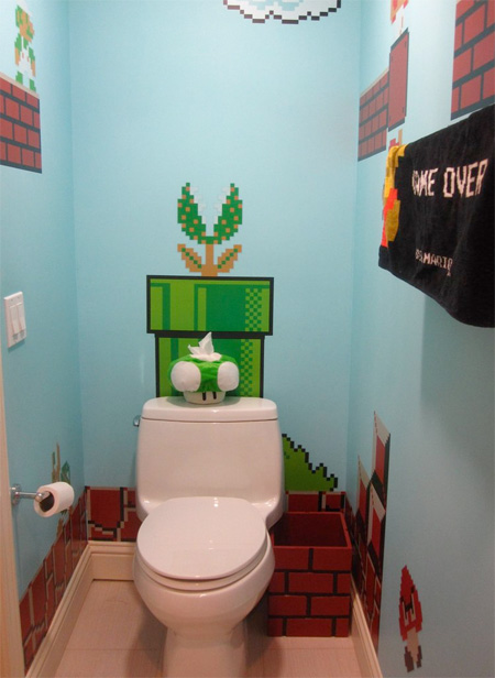 Super Mario Inspired Bathroom