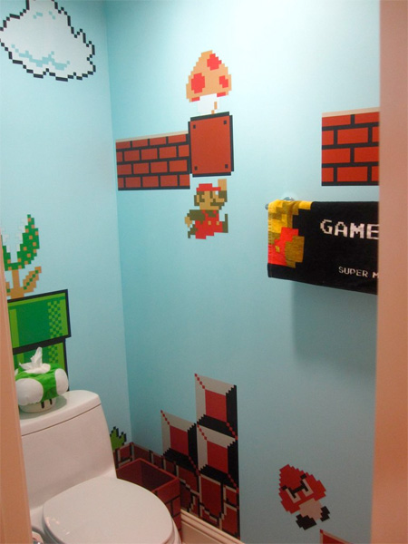 Mario Inspired Bathroom
