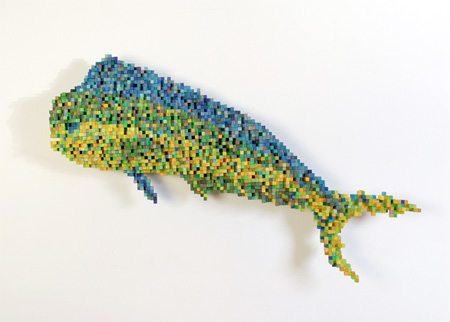 8 Bit Sculpture by Shawn Smith