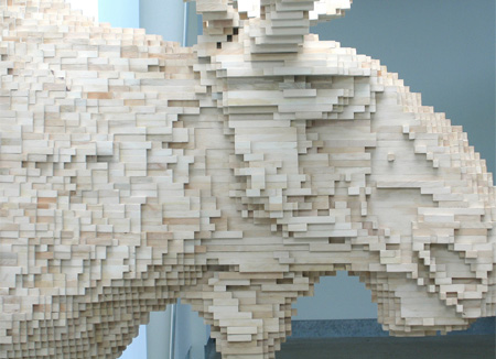 8 Bit Sculptures by Shawn Smith