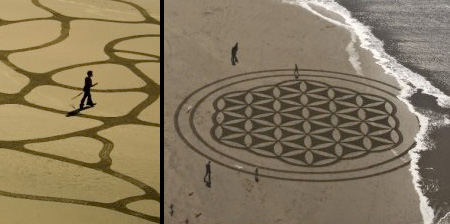 Beautiful Sand Drawings