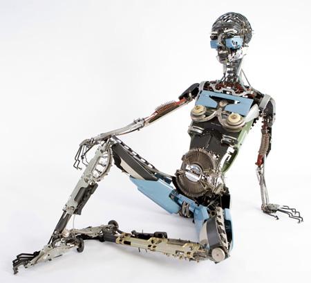 Typewriter Sculpture by Jeremy Mayer