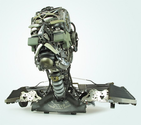 Typewriter Sculptures by Jeremy Mayer