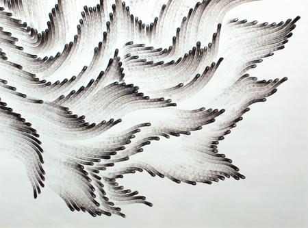 Fingerprint Painting by Judith Braun