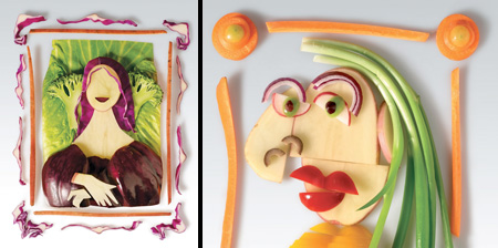 Paintings Made of Food