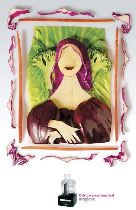 Mona Lisa Made of Food