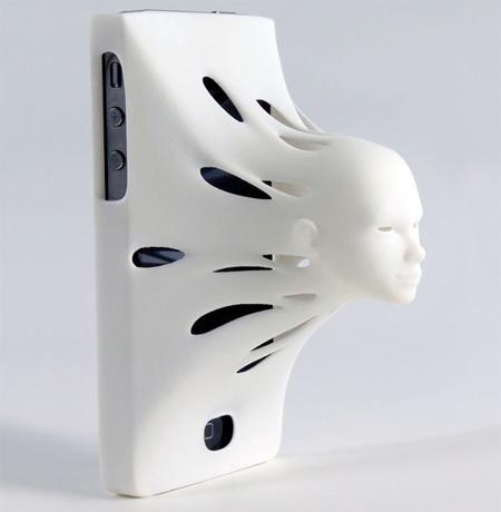 3D Face iPhone Case