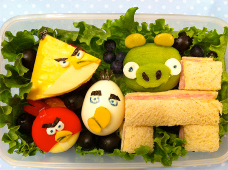 Angry Birds Food Art