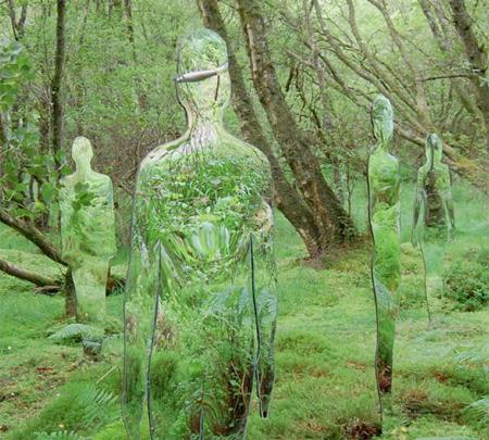 Mirrored Sculptures
