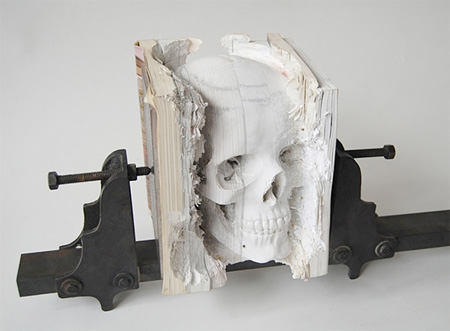 Skull Made of Books