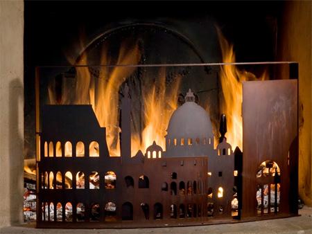 Burning City Firescreens
