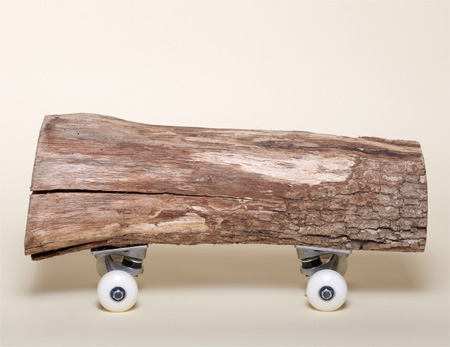Wood Log Skateboard