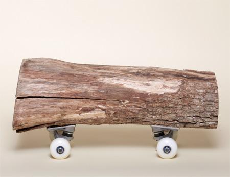 Wood Log Skateboard
