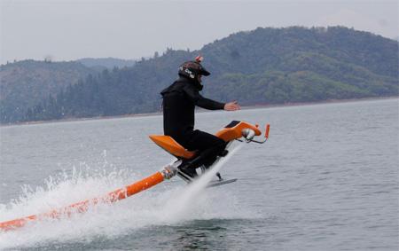 Water Powered Flying Bike