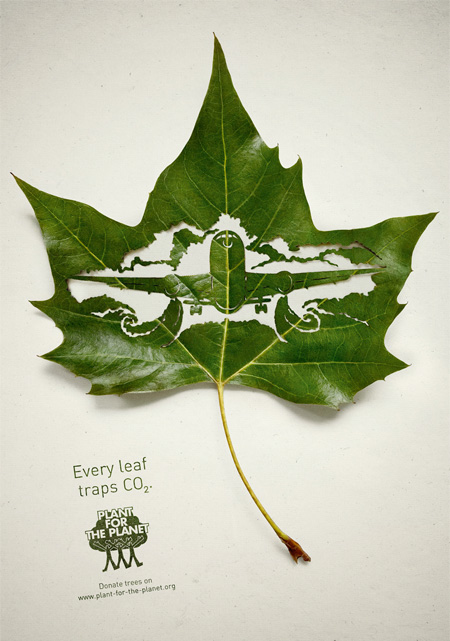 Plant for the Planet Leaf Art