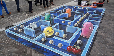 Pac-Man Street Art