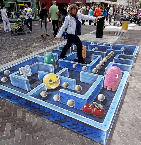 3D Pac-Man by Leon Keer