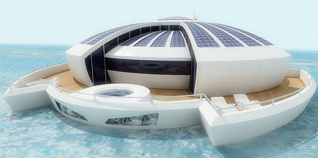 Solar Powered Floating Resort