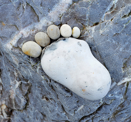 Stone Footprint by Iain Blake