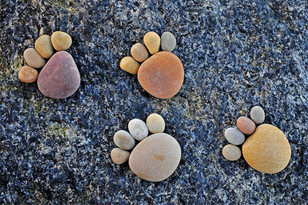 Footprints Made of Stone