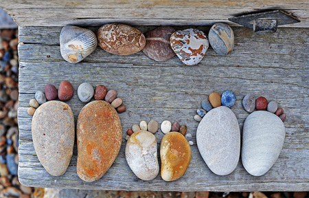 Footprints Made of Stones