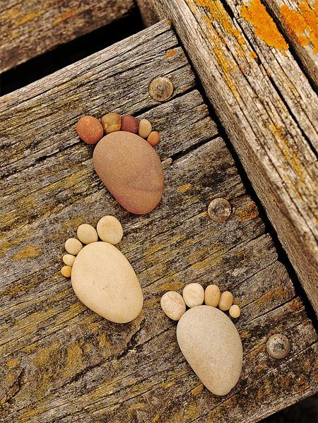 Stones Form Footprints
