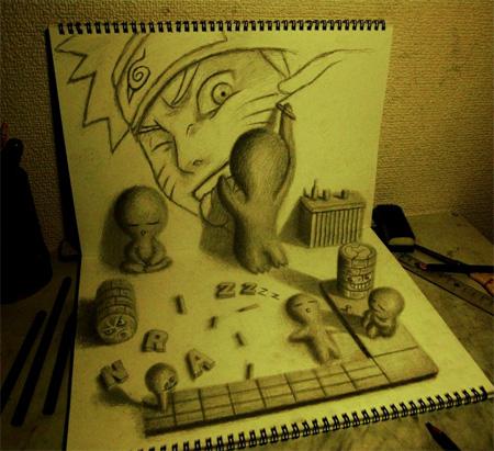 3D Sketch by Nagai Hideyuki