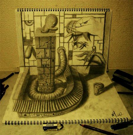 Drawings by Nagai Hideyuki