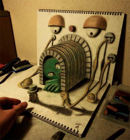 Drawing by Nagai Hideyuki