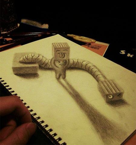 3D Pencil Art by Nagai Hideyuki
